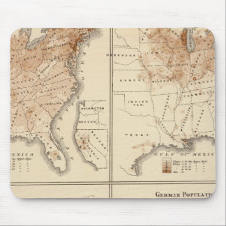 United States Census maps, 1870 Mouse Pad