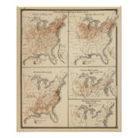 United States Census maps, 1870 Print
