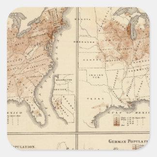 United States Census maps, 1870 Sticker