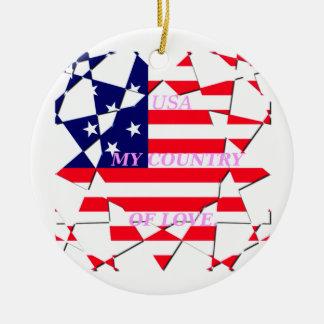 United States Ceramic Ornament