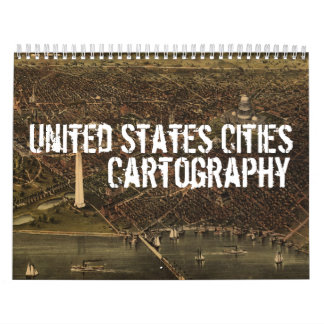 United States Cities Cartography Calendar