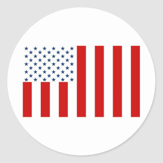 United States Civil Flag Sons of Liberty Variation Classic Round Sticker