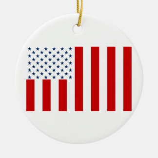 United States Civil Flag Sons of Liberty Variation Christmas Ornaments