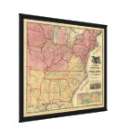 United States Civil War Map by Charles Magnus 1862 Canvas Print