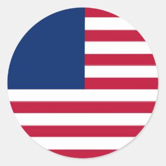 United States Classic Round Sticker