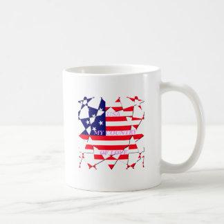 United States Classic White Coffee Mug
