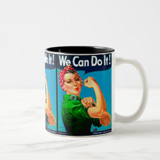 United States Climate Alliance - We Can Do It! Two-Tone Coffee Mug