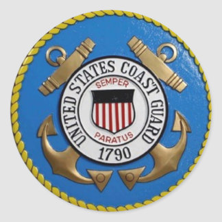 UNITED STATES COAST GUARD CLASSIC ROUND STICKER