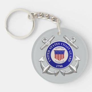 United States Coast Guard Double-Sided Round Acrylic Keychain