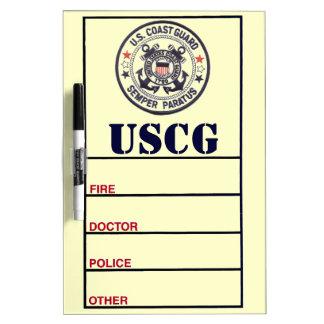 United States Coast Guard Dry Erase White Board