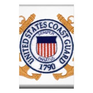 United States Coast Guard Emblem Custom Stationery