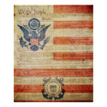 United States Coast Guard Ensign Poster