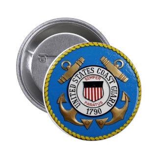 UNITED STATES COAST GUARD INSIGNIA PINBACK BUTTON