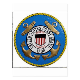 UNITED STATES COAST GUARD INSIGNIA POSTCARD