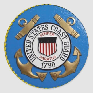 UNITED STATES COAST GUARD INSIGNIA ROUND STICKERS