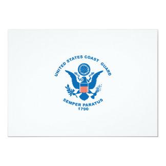 """United States Coast Guard 5"""" X 7"""" Invitation Card"""