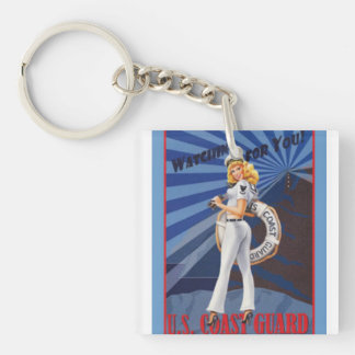 United States Coast Guard is Watching for You Keychain