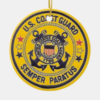 United States Coast Guard Double-Sided Ceramic Round Christmas Ornament