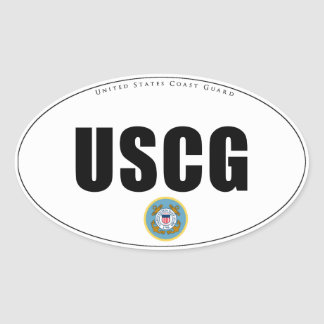 United States Coast Guard Oval Sticker