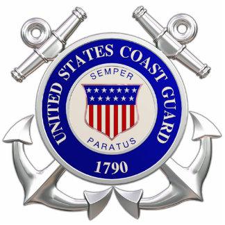 United States Coast Guard Photosculpture Key Chain Photo Sculpture Keychain