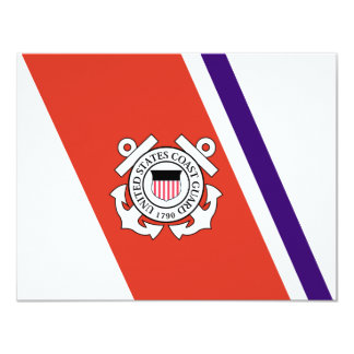 United States Coast Guard Racing Stripe - Left Card