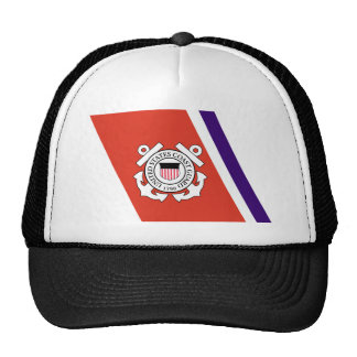 United States Coast Guard Racing Stripe - Left Hat