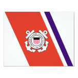 United States Coast Guard Racing Stripe - Left 4.25x5.5 Paper Invitation Card