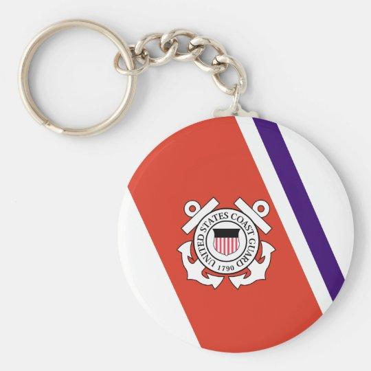 United States Coast Guard Racing Stripe - Left Keychain