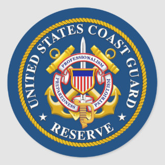 United States Coast Guard Reserve Classic Round Sticker