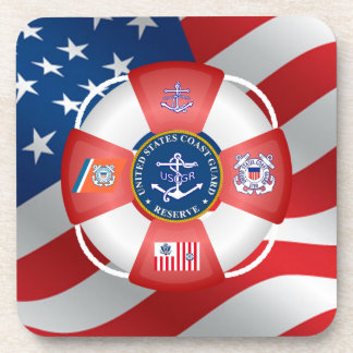 United States Coast Guard Reserve Drink Coaster