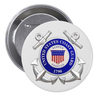 United States Coast Guard Round Button