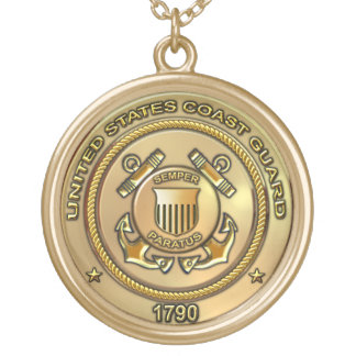 United States Coast Guard Round Pendant Necklace