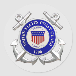 United States Coast Guard Round Stickers