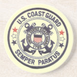 """United States Coast Guard Sandstone Drink Coaster<br><div class=""""desc"""">From www.railphotoexpress.biz-- The United States Coast Guard (USCG) is a branch of the United States Armed Forces and one of the country&#39;s seven uniformed services. The Coast Guard is a maritime, military, multi-mission service unique among the U.S. military branches for having a maritime law enforcement mission (with jurisdiction in both...</div>"""