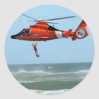 United States Coast Guard Search and Rescue Classic Round Sticker