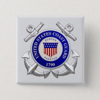 United States Coast Guard Square Button