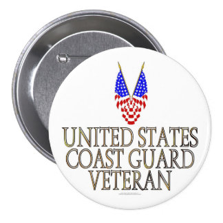 United States Coast Guard Veteran Button