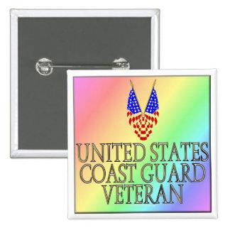 United States Coast Guard Veteran (gay/rainbow) Button