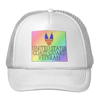 United States Coast Guard Veteran (gay/rainbow) Trucker Hat