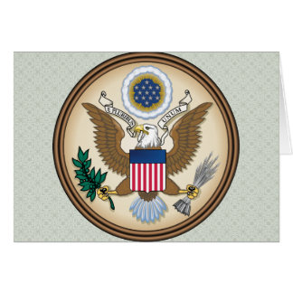 United States Coat of Arms detail Greeting Card