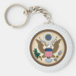 United States Coat of Arms detail Basic Round Button Keychain