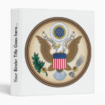 United States Coat of Arms detail Vinyl Binders