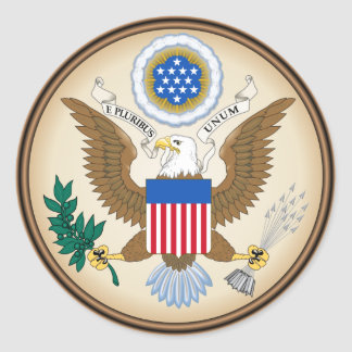 United States Coat of arms US Classic Round Sticker