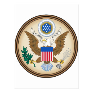United States Coat of arms US Postcard