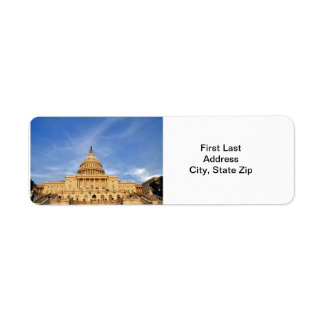 United States Congress Return Address Labels