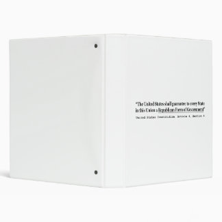 United States Constitution Article 4 Section 4 3 Ring Binder