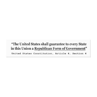 United States Constitution Article 4 Section 4 Canvas Print