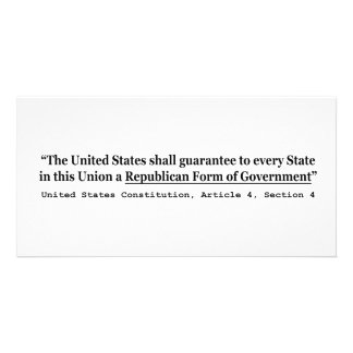 United States Constitution Article 4 Section 4 Card