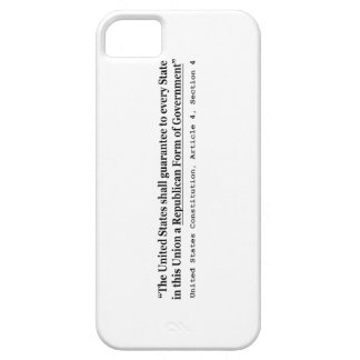 United States Constitution Article 4 Section 4 iPhone SE/5/5s Case