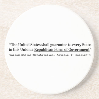 United States Constitution Article 4 Section 4 Sandstone Coaster
